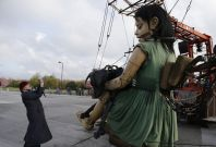 Little Girl giant marionette