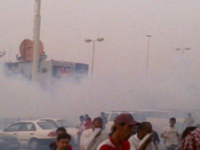 Protesters say police fired tear gas at them