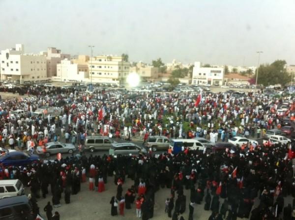 Protesters in Bahrains capital Manama