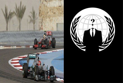 Anonymous collective staged Distributed Denial of Service (DDoS) attack on official Formula One website