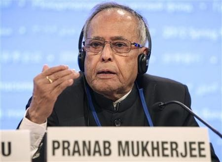 Indian President Pranab Mukherjee laid the foundation stone for 'Nirbhaya Bhawan'