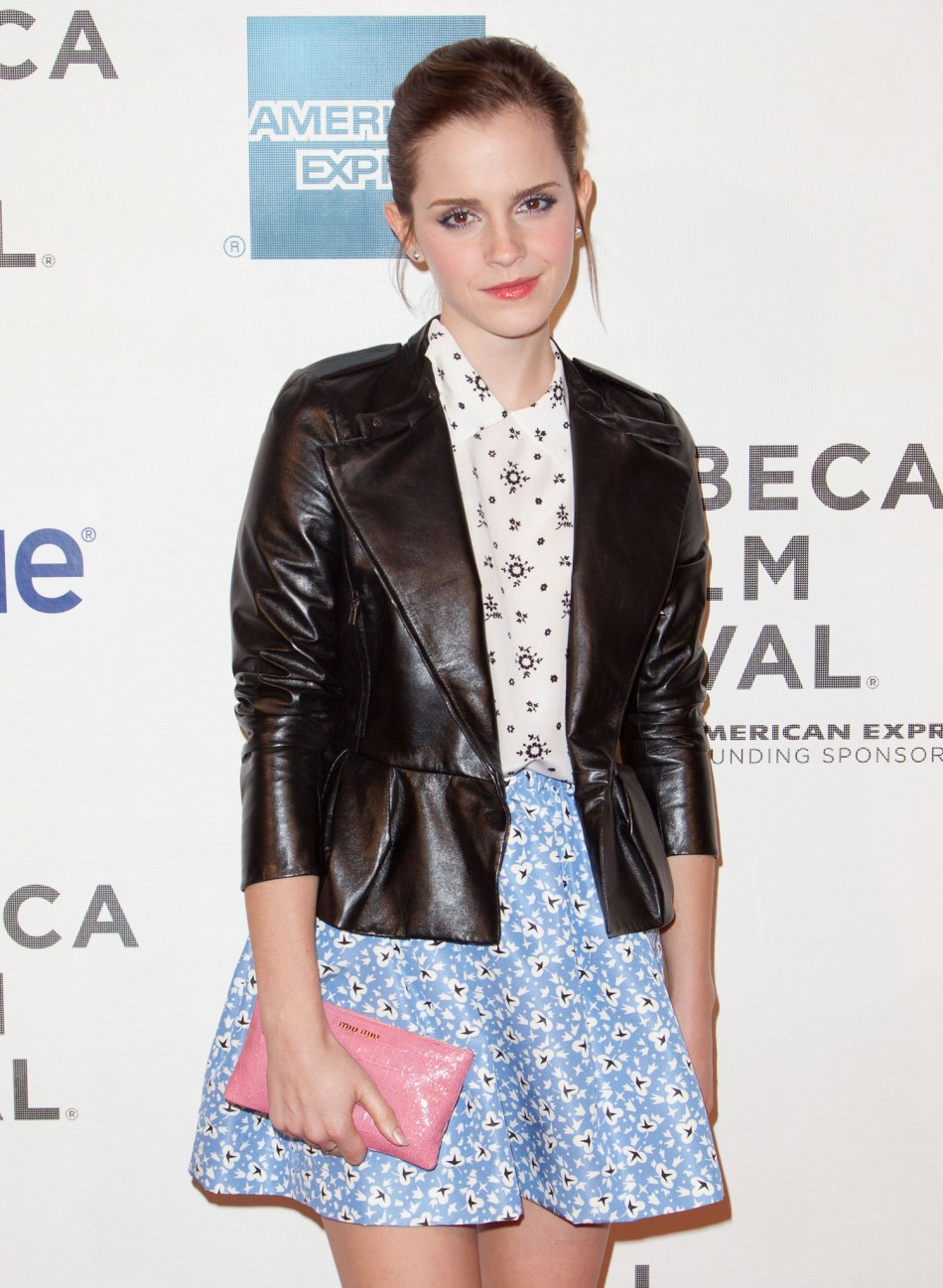 Emma Watsons Rock Chic Looks at the Struck by Lightning Tribeca Premiere