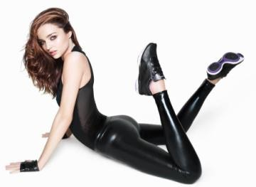 Miranda Kerr showing off her body