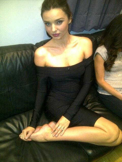 Miranda Kerr in a black outfit