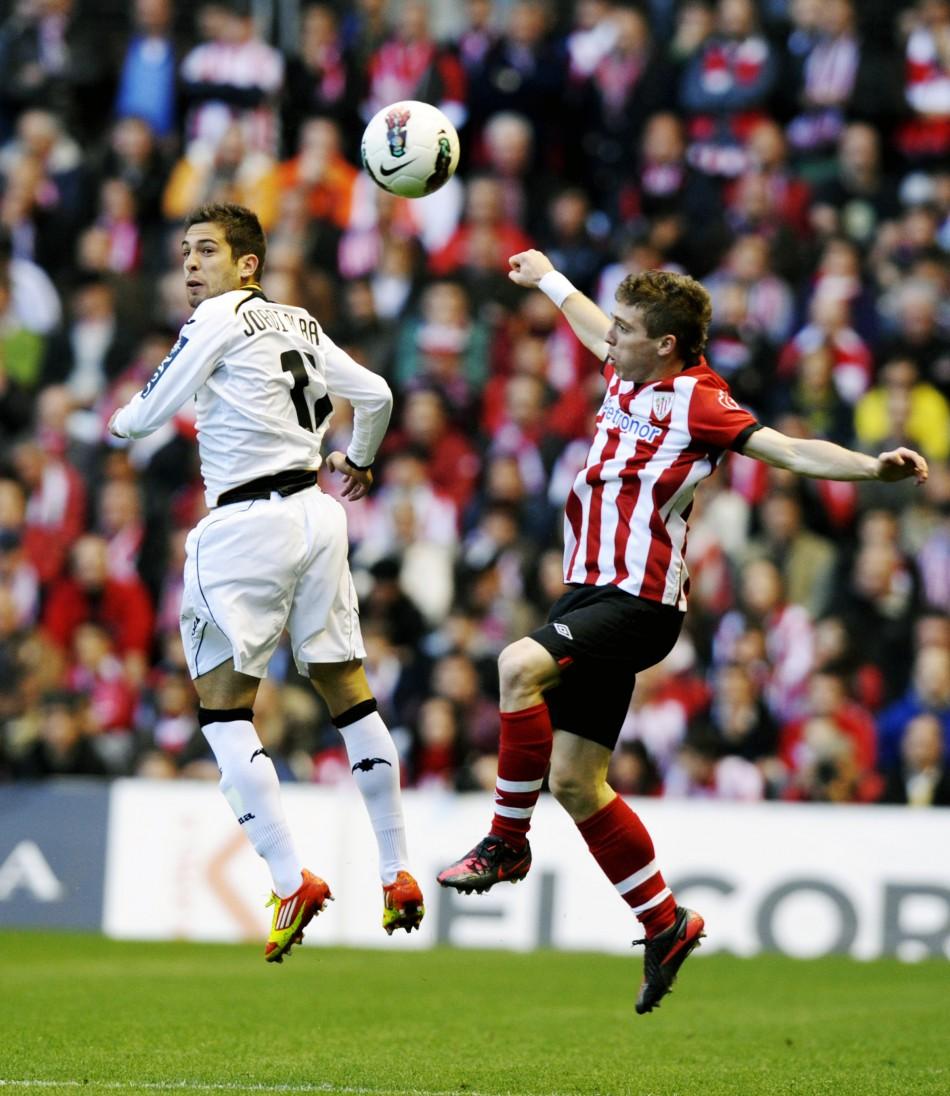 Manchester United After Athletic Bilbao's Iker Muniain Valencia's Jordi Alba