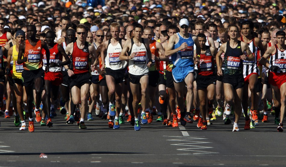 London Marathon 21012. This year's race will be run amidst heightened security following the Boston bombings.