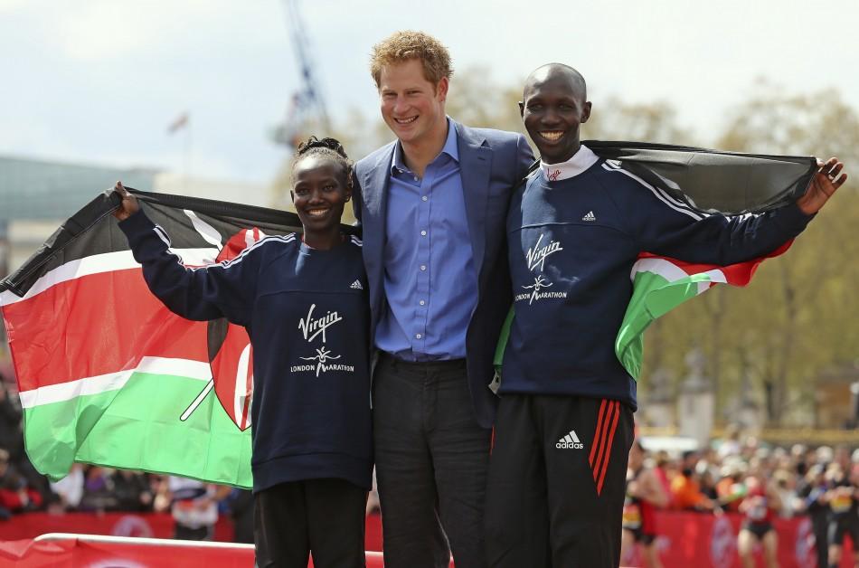 Prince Harry with winners
