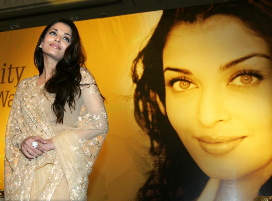 Indian actress Aishwarya Rai poses two days ahead of International Indian Film Academy awards in Dubai 2006