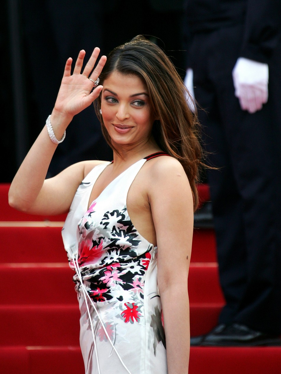 Bollywood star Rai poses during red carpet arrivals for the out of competition screening of US director Allens film Match Point at the 58th Cannes Film Festival 2005