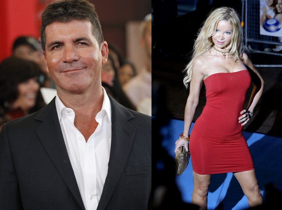 Simon Cowell and Alicia Douvall