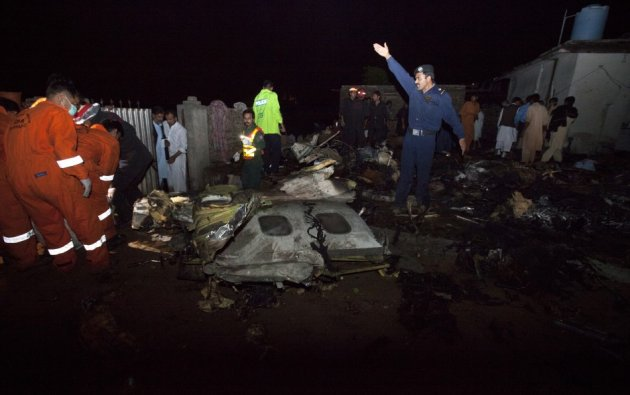 The Bhoja Air Boeing 737, which had flown from Karachi, crashed on its approach to Islamabad's airport. (Reuters)