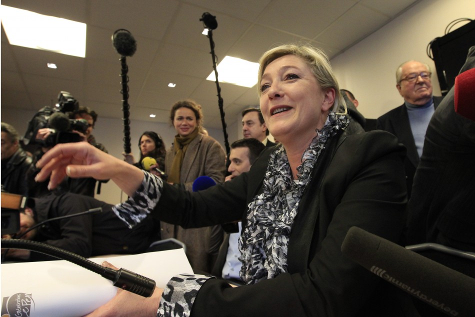 France's far right National Front party leader Marine Le Pen