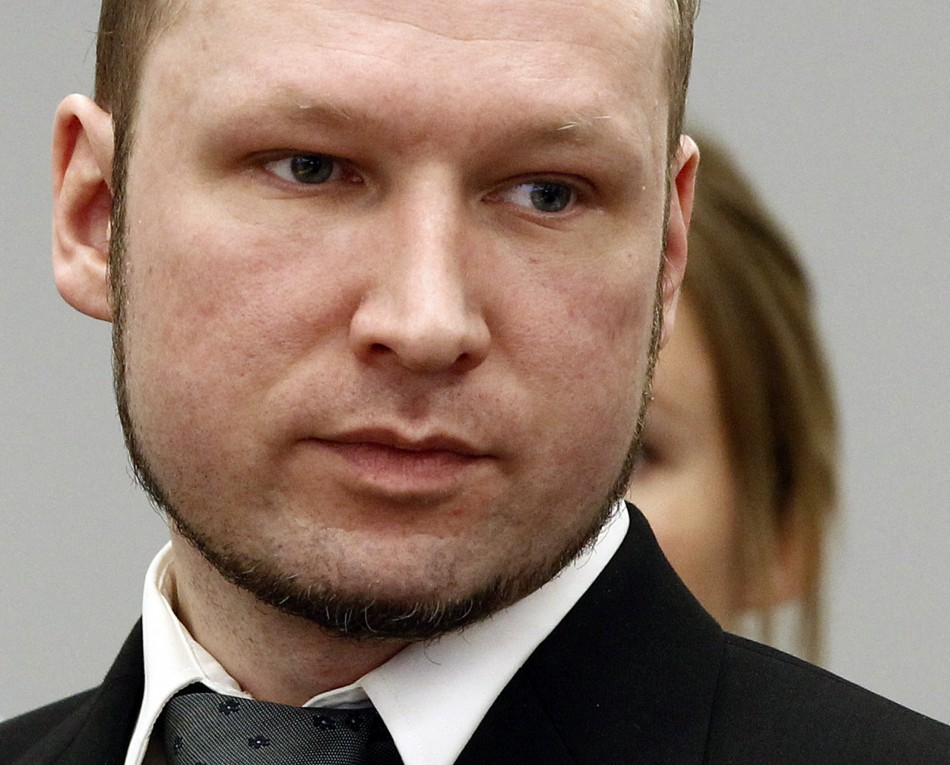 Anders Behring Breivik during his trial at the central court in Oslo (Reuters)