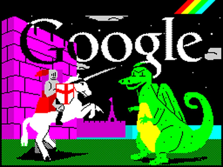 Google Doodle ZX Spectrum St. George's Day