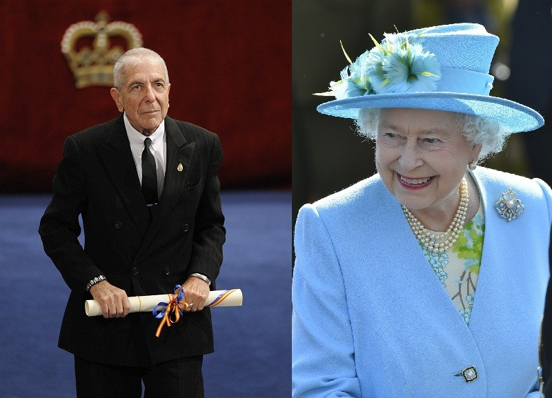 Leonard Cohen and The Queen