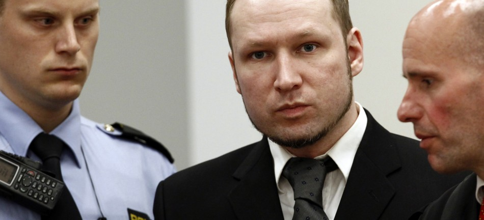 Anders Behring Breivik in court