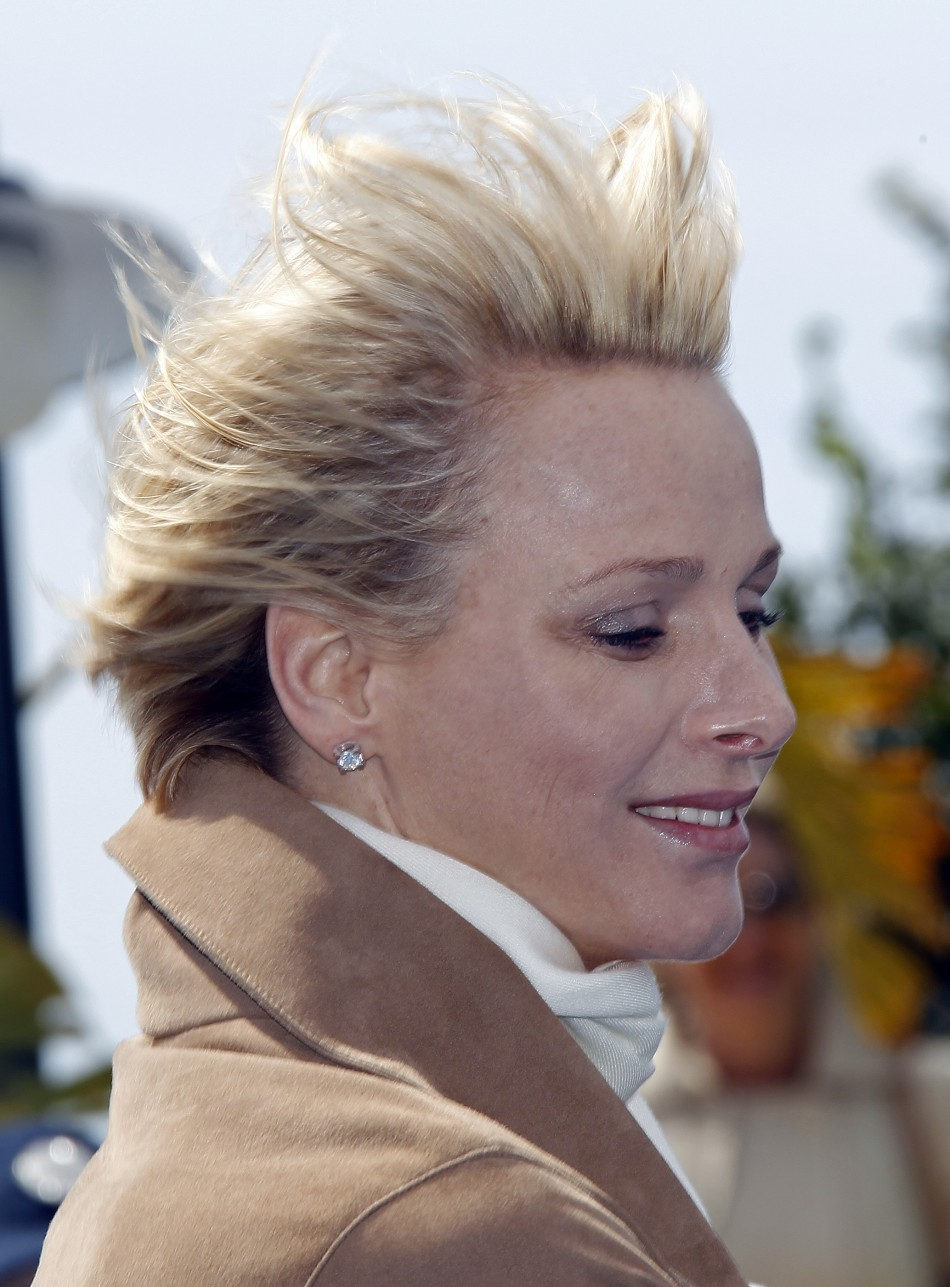 Princess Charlene Braves the Wind for Monaco Turtle Island Inauguration