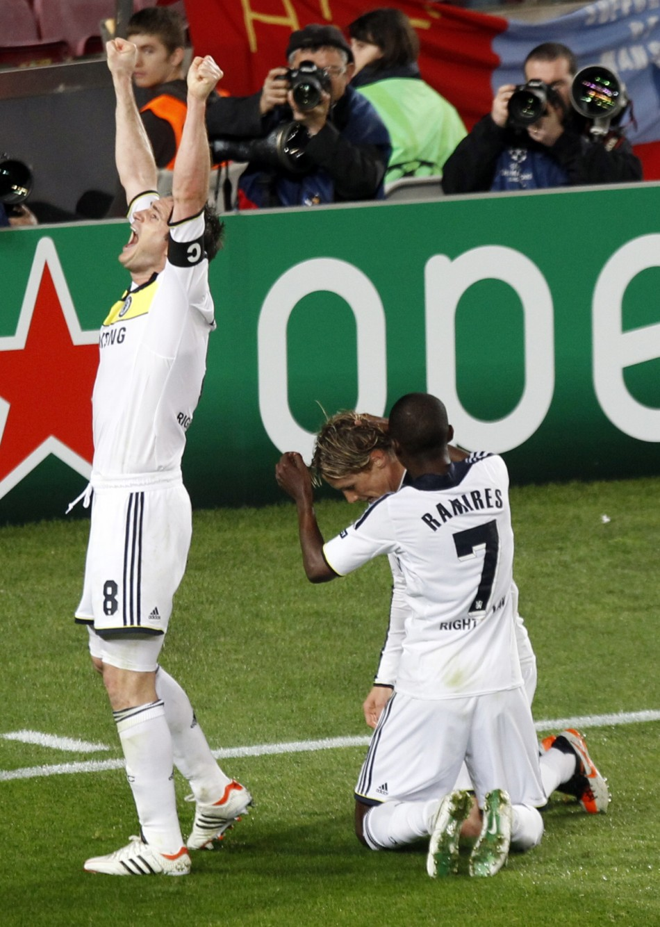 Frank Lampard, Fernando Torres and Ramires