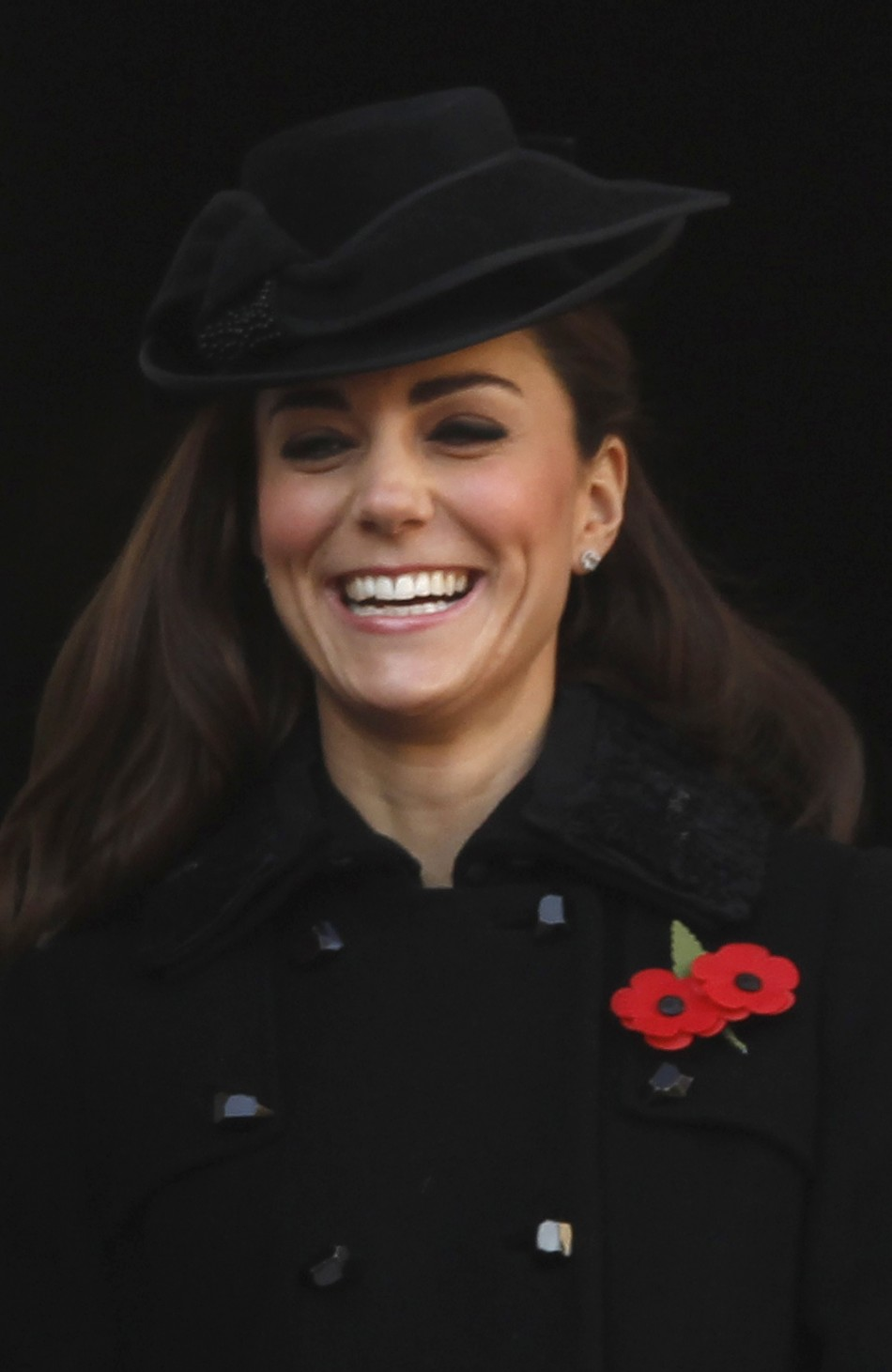 Catherine, Duchess of Cambridge attends the annual Remembrance Sunday ceremony at the Cenotaph in London