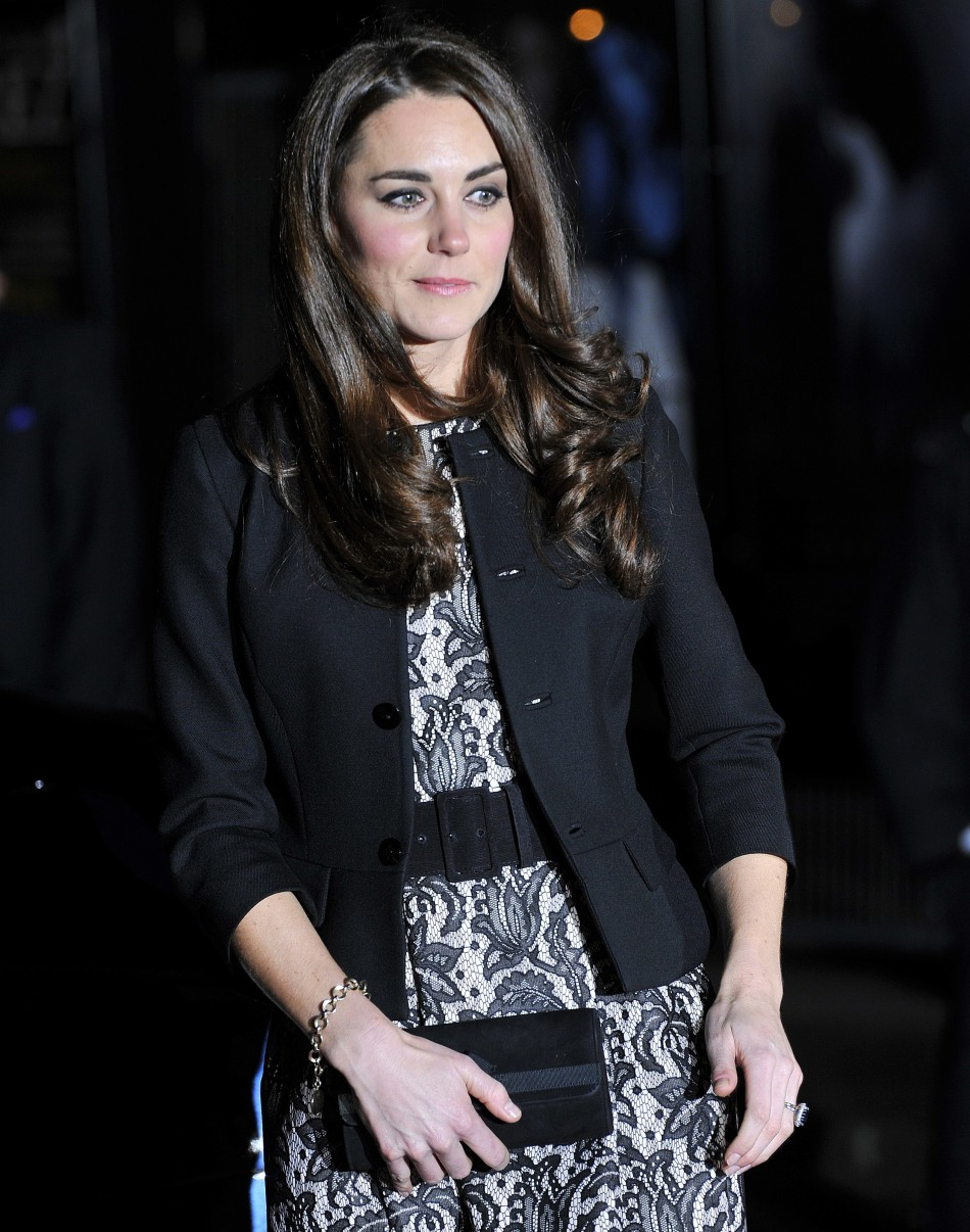 Britain's Catherine, Duchess of Cambridge, arrives for a charity concert at the Royal Albert Hall in London