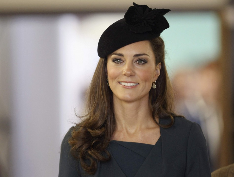 Catherine, Duchess of Cambridge smiles at De Montfort University during a visit to Leicester