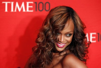 Actress Tyra Banks arrives at the Time 100 Gala in New York