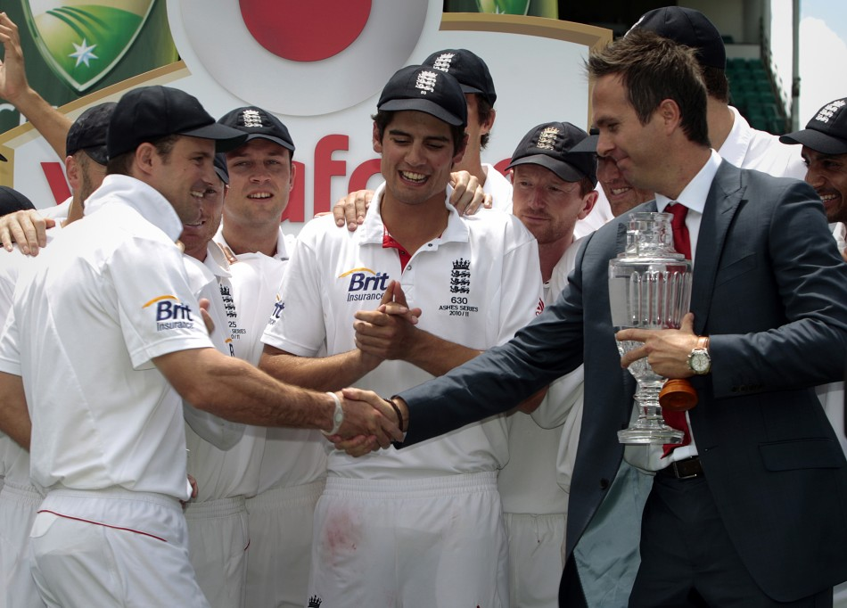 Andrew Strauss and Michael Vaughan