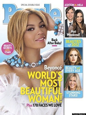 Beyonce Knowles in People Magazine