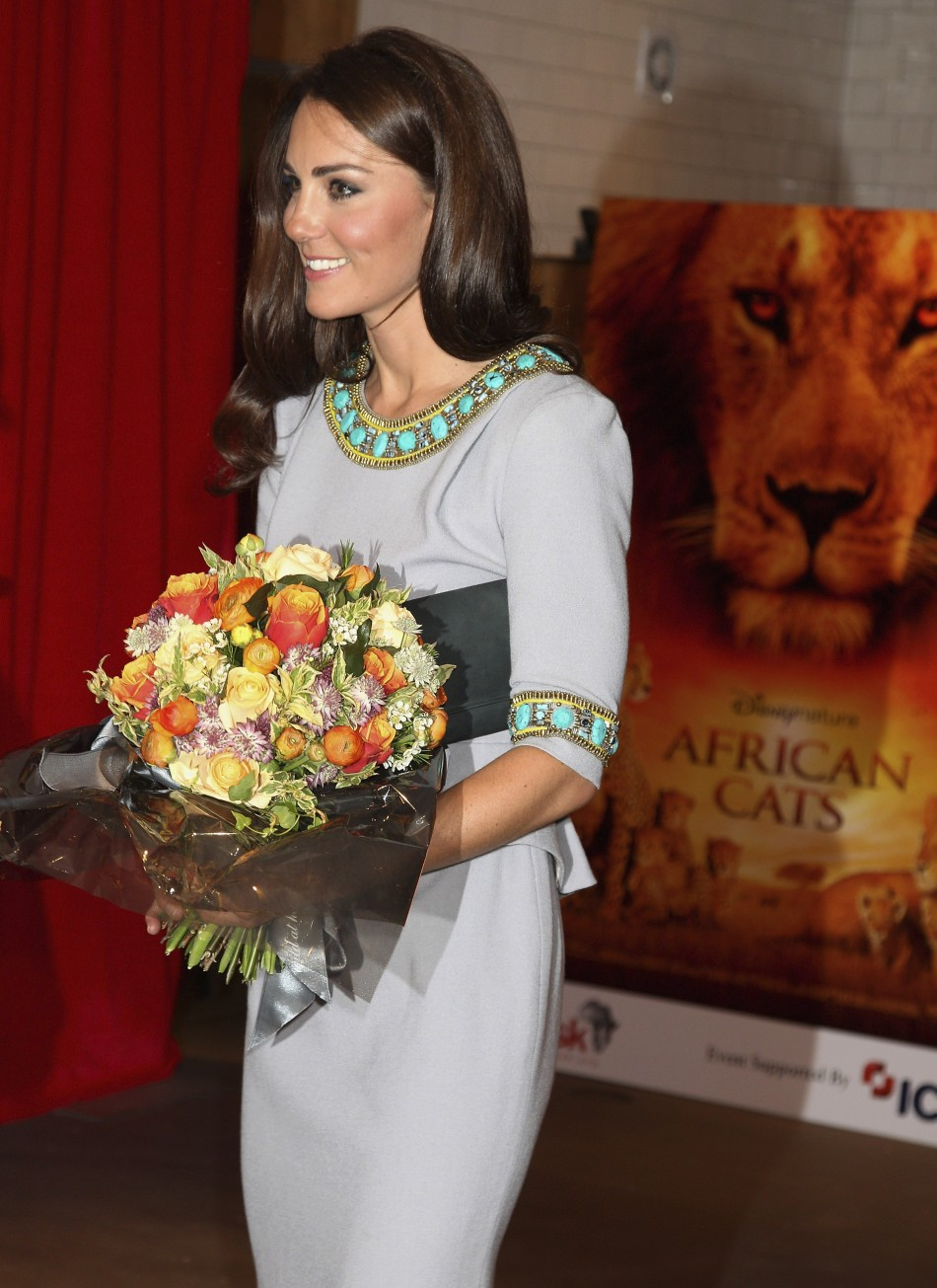 William & Kate Attend 'African Cats' UK Premiere
