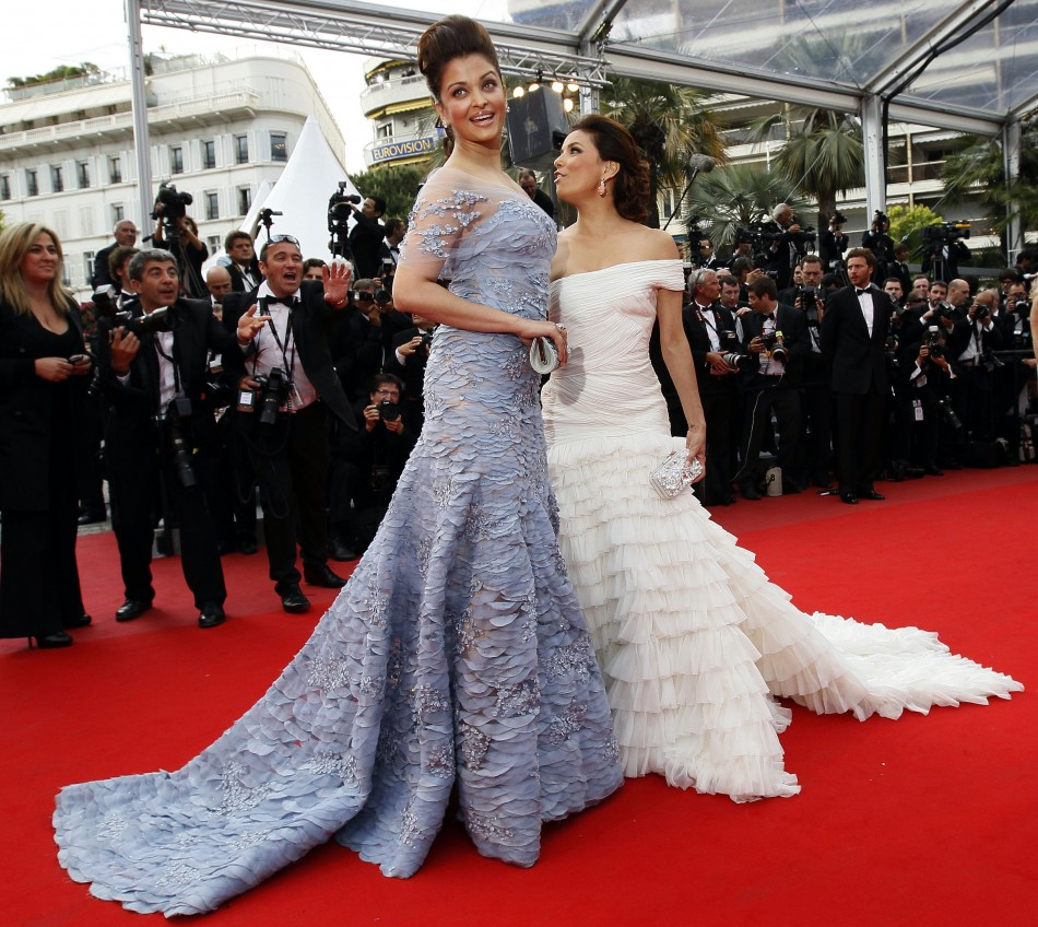 "Actresses Longoria Parker and Rai arrive for the screening of ""Robin Hood"" and for the opening ceremony of the 63rd Cannes Film Festival 2010"