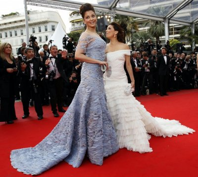 Actresses Longoria Parker and Rai arrive for the screening of quotRobin Hoodquot and for the opening ceremony of the 63rd Cannes Film Festival 2010