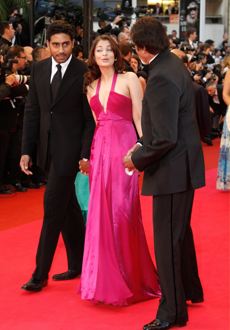 Indian actors Aishwarya Rai and Abhishek Bachchan arrive for screening of quotVicky Cristina Barcelonaquot at 61st Cannes Film Festival 2008