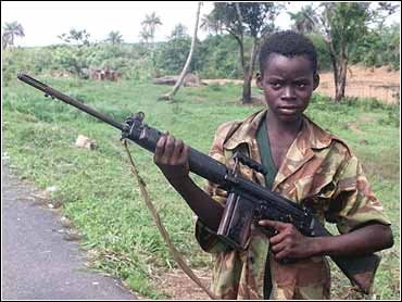 A child soldier during the Sierra leone civil war