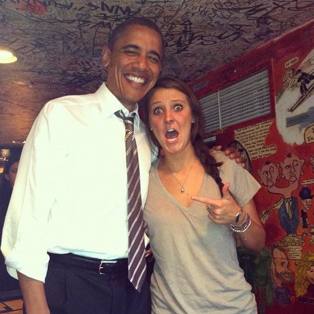 President Obama and Madalyn Starkey