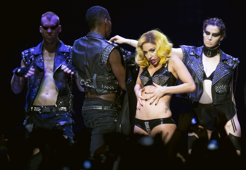 Lady Gaga performs at Madison Square Garden during a stop on her Monster Ball Tour in New York