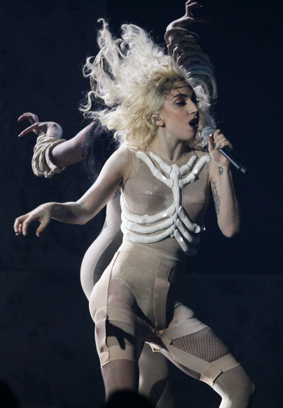 Lady Gaga performs at the 2009 American Music Awards in Los Angeles