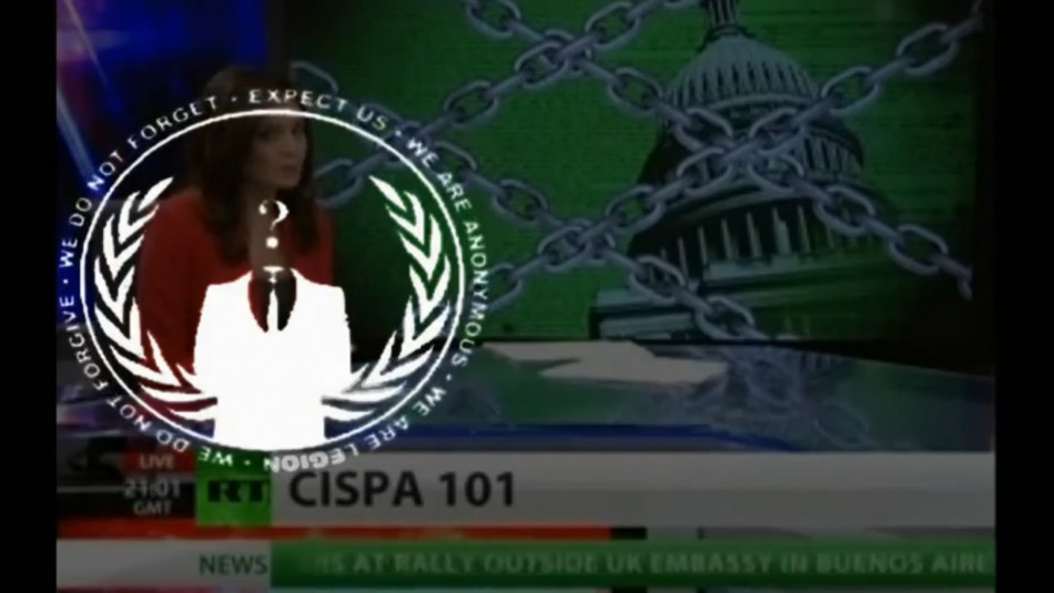 After cyber security bill Cispa clears US House of Representatives, Anonymous hacking collective releases another video on YouTube attacking the bill and urging American citizens to sign petition against it