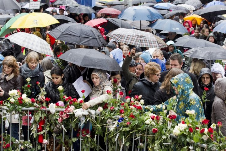 Norwegian people hold on to their democratic ideals following the attacks