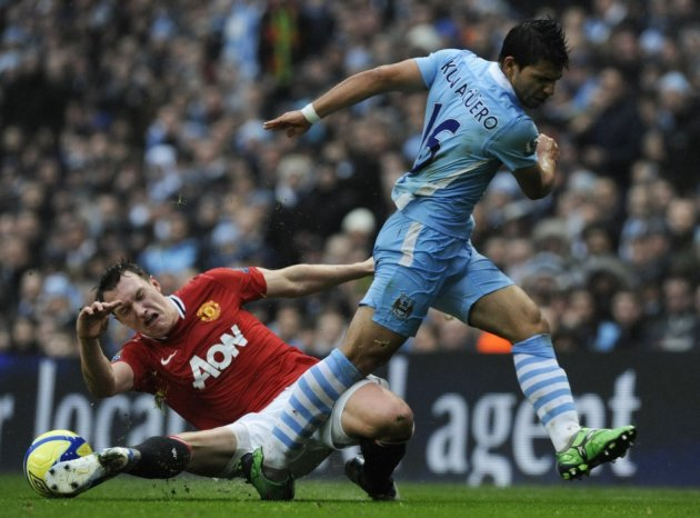 Phil Jones and Sergio Aguero
