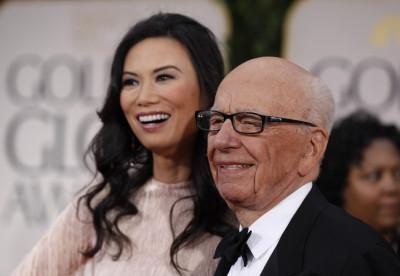 Rupert Murdoch and Deng Wendi