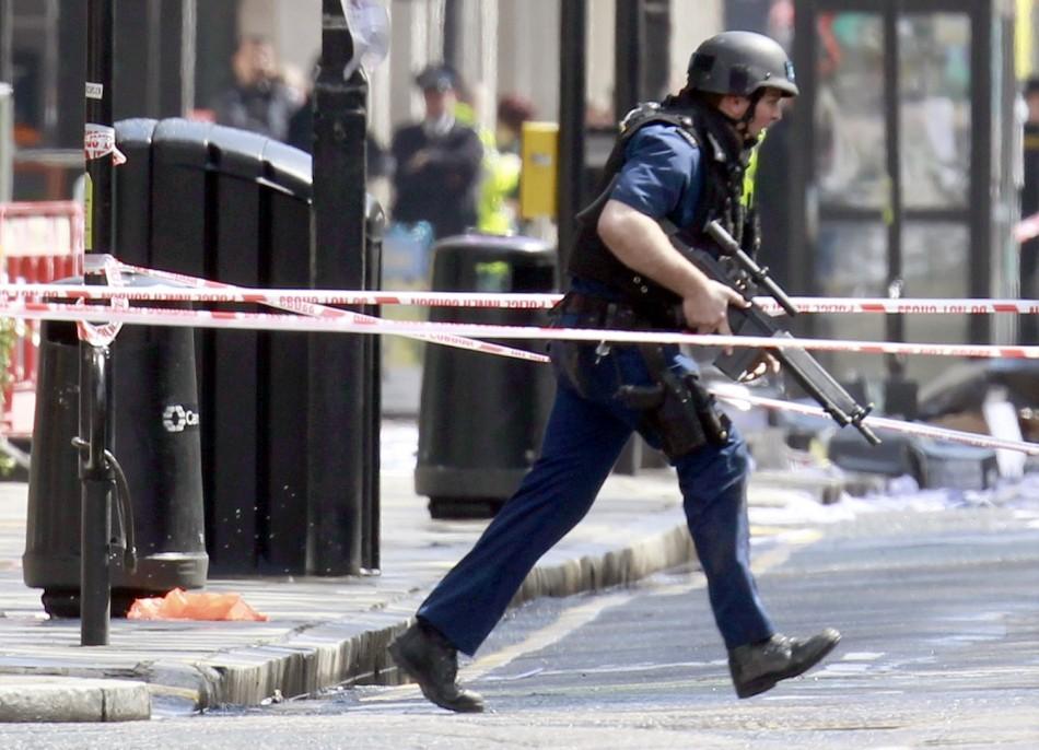 armed police tottenham court road