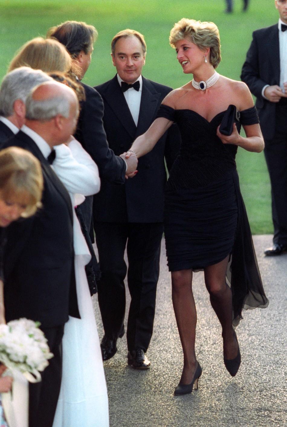 Princess Diana in Black