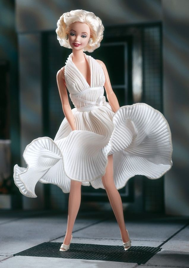 Marilyn Monroe Barbie doll in the White Dress from The Seven Year Itch