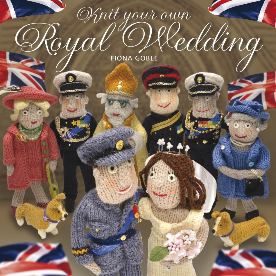 "A copy of the front cover of a book entitled ""Knit Your Own Royal Wedding"" is seen in this photograph received in London"