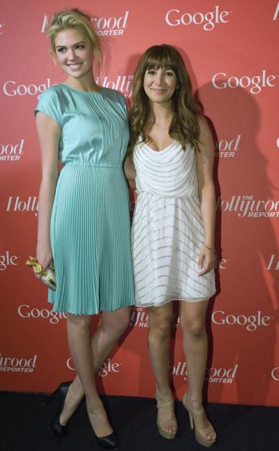 Model Kate Upton L and comedienne Nasim Pedrad