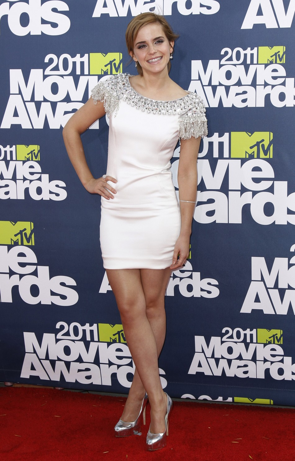 British actress Emma Watson arrives at the 2011 MTV Movie Awards in Los Angeles 2011