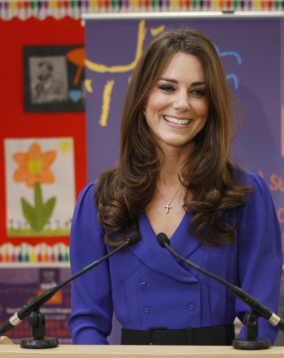 Britain's Catherine, Duchess of Cambridge makes her first speech during a visit toThe Treehouse in Ipswich