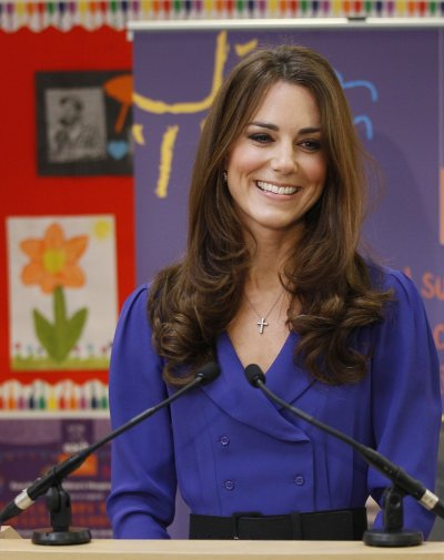 Britains Catherine, Duchess of Cambridge makes her first speech during a visit toThe Treehouse in Ipswich