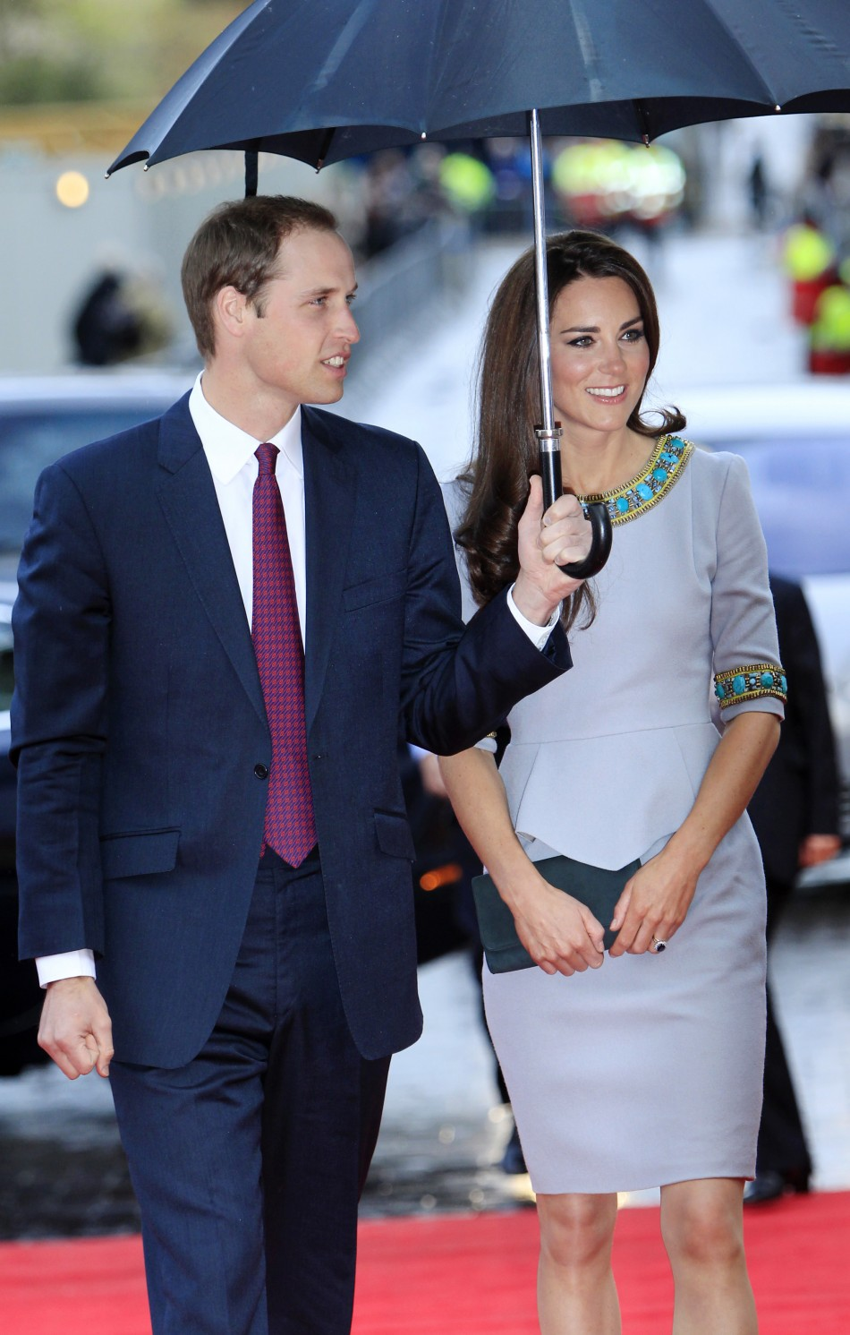 Britain's Prince William and Catherine, Duchess of Cambridge arrive for the British Premiere of