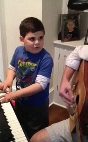 Ethan Walmark, the 6 Year Old Autistic Boy Plays Piano Man, turns internet sensation
